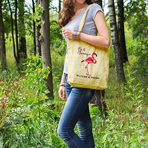 Bag Women Bags For Gifts Printed Shopper Be Tote Cotton Plem Flamingo A Zpzwp