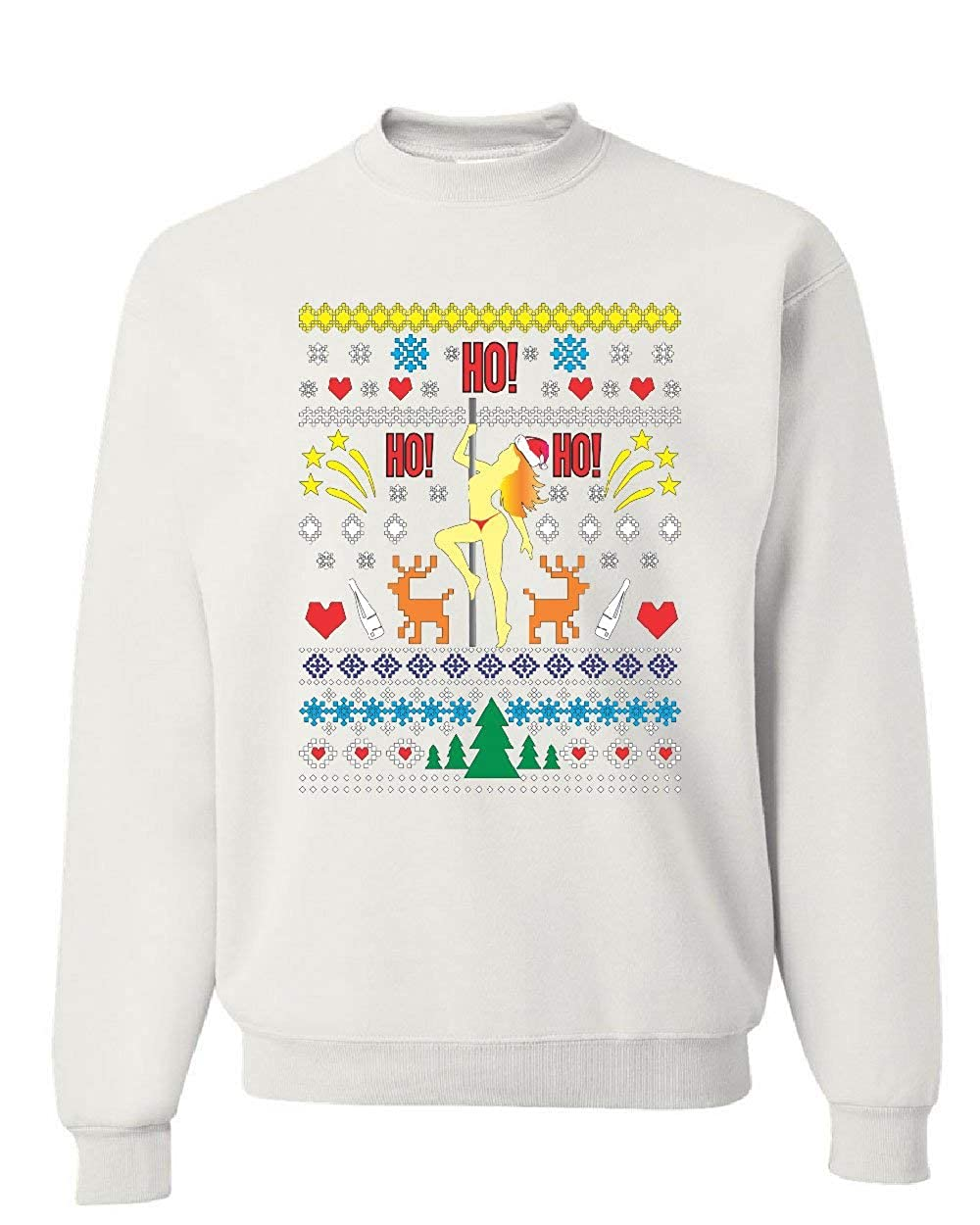 Ho Tee Hunt Ho Ho Stripper Ugly Sweater Sweatshirt Christmas Funny Xmas Sweater