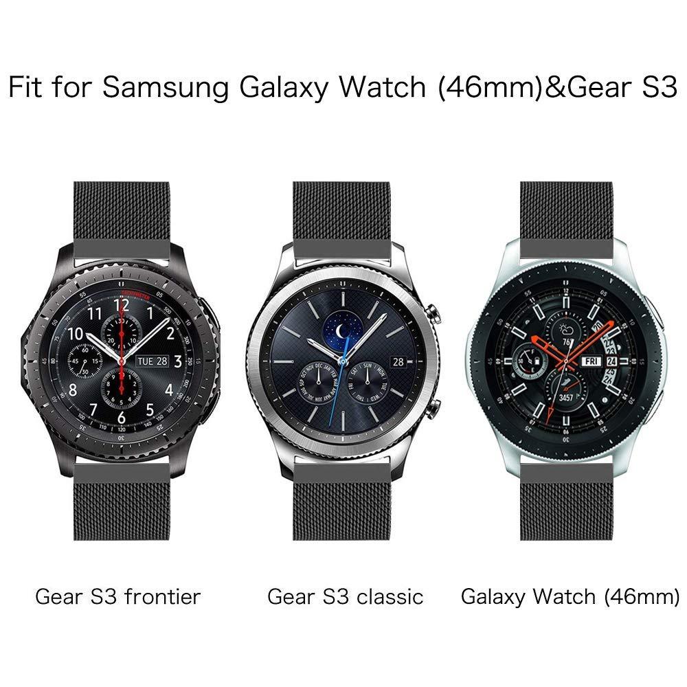 Fintie Correa para Samsung Galaxy Watch 46mm / Gear S3 Classic/Gear S3 Frontier - [Cierre Única del Imán] 22mm Pulsera de Repuesto de Acero Inoxidable ...