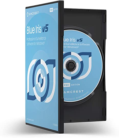 Supports Many IP Camera Brands Including Amcrest Zone Motion Detection H.265 Compression Recording E-Mail and SMS Text Messaging Alerts! BLUEIRISCD-V5 Amcrest Blue Iris Professional Version 5