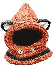 Hosaire 1X Gorro y Sombreros Bebés Niña Niño Invierno Calentar Pequeña Zorro Gorro Bufanda Mantón Conjunto Linda Sombrero Deportes y Aire Libre