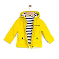 WithCongratulations Personalised Baby Raincoat Rain Jacket For Baby Boy or Baby Girl - Yellow