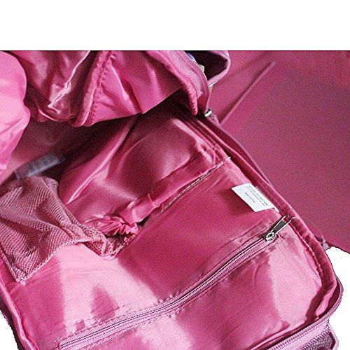Landuo - Bolsa de hombro para pañales, tamaño mediano, 9colores morado morado rosa