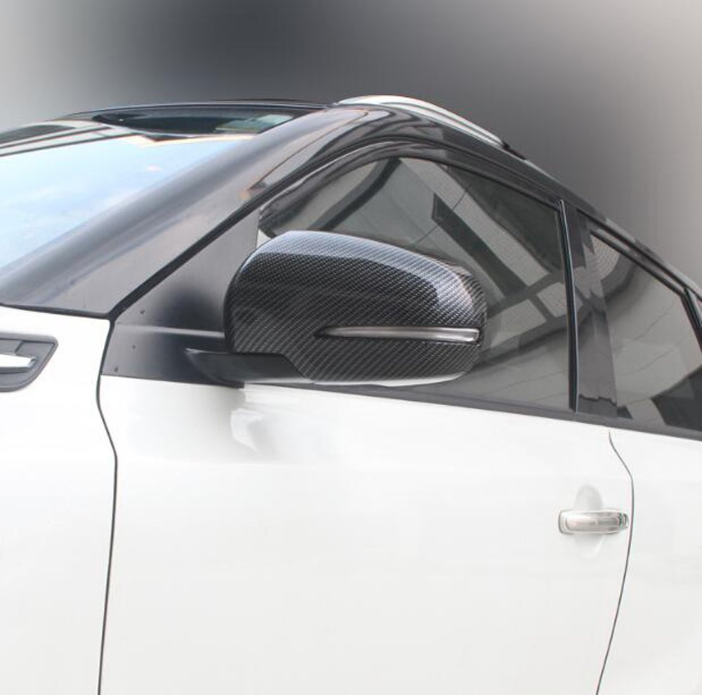Outside Door Mirror Cap Rearview Mirror Cover For Suzuki SX4 S-Cross Facelift 2014-2018 ABS Plastic Carbon Fiber Color 2PCS//SET