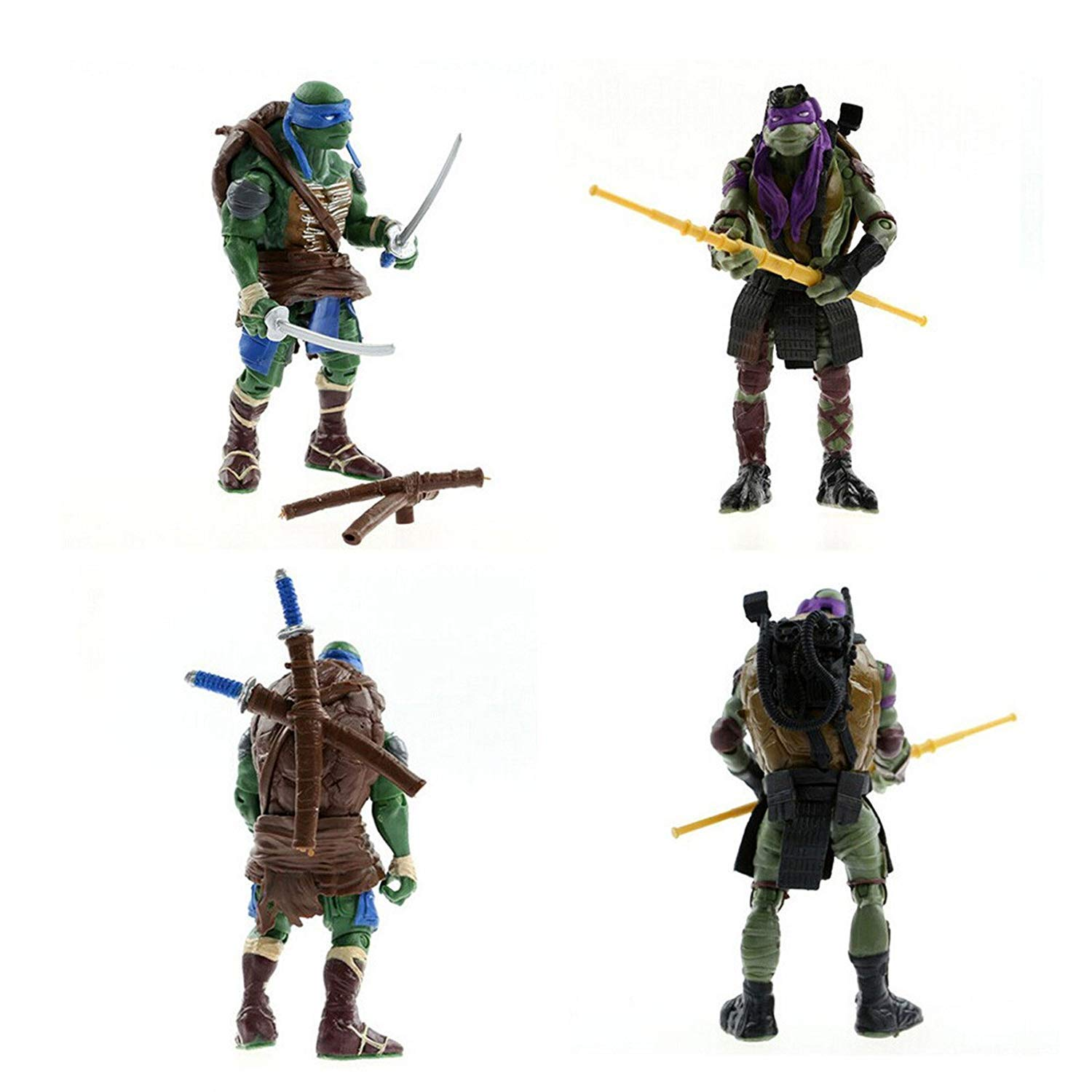 Peton Teenage Mutant Ninja Turtles Movie 5 Action Figure TMNT 4pcs//Lot Toys LY