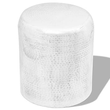Vidaxl Hocker Beistelltisch Sofatisch Stuhl Gehammertes Aluminium