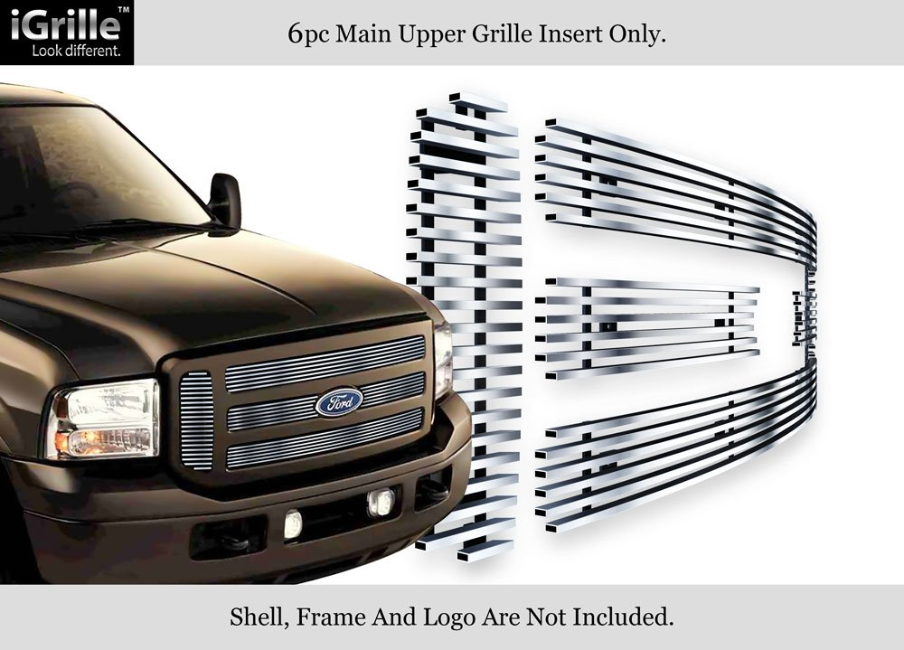 APS For 05-07 Ford F250/F350 Super Duty/Excursion Stainless Steel Billet Grille #N19-C99756F