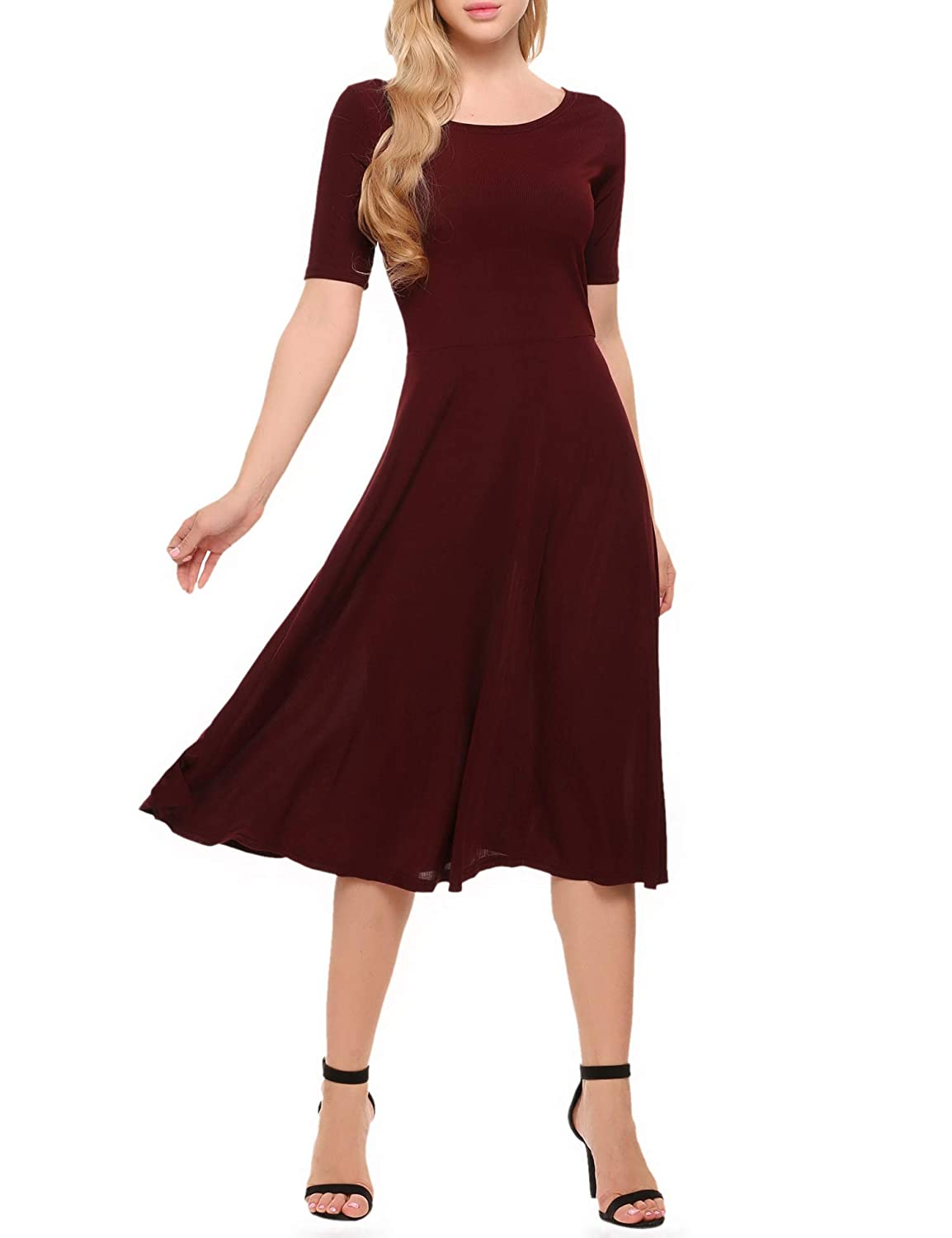 832cc0e3053c Zeagoo Elegant Casual Dress