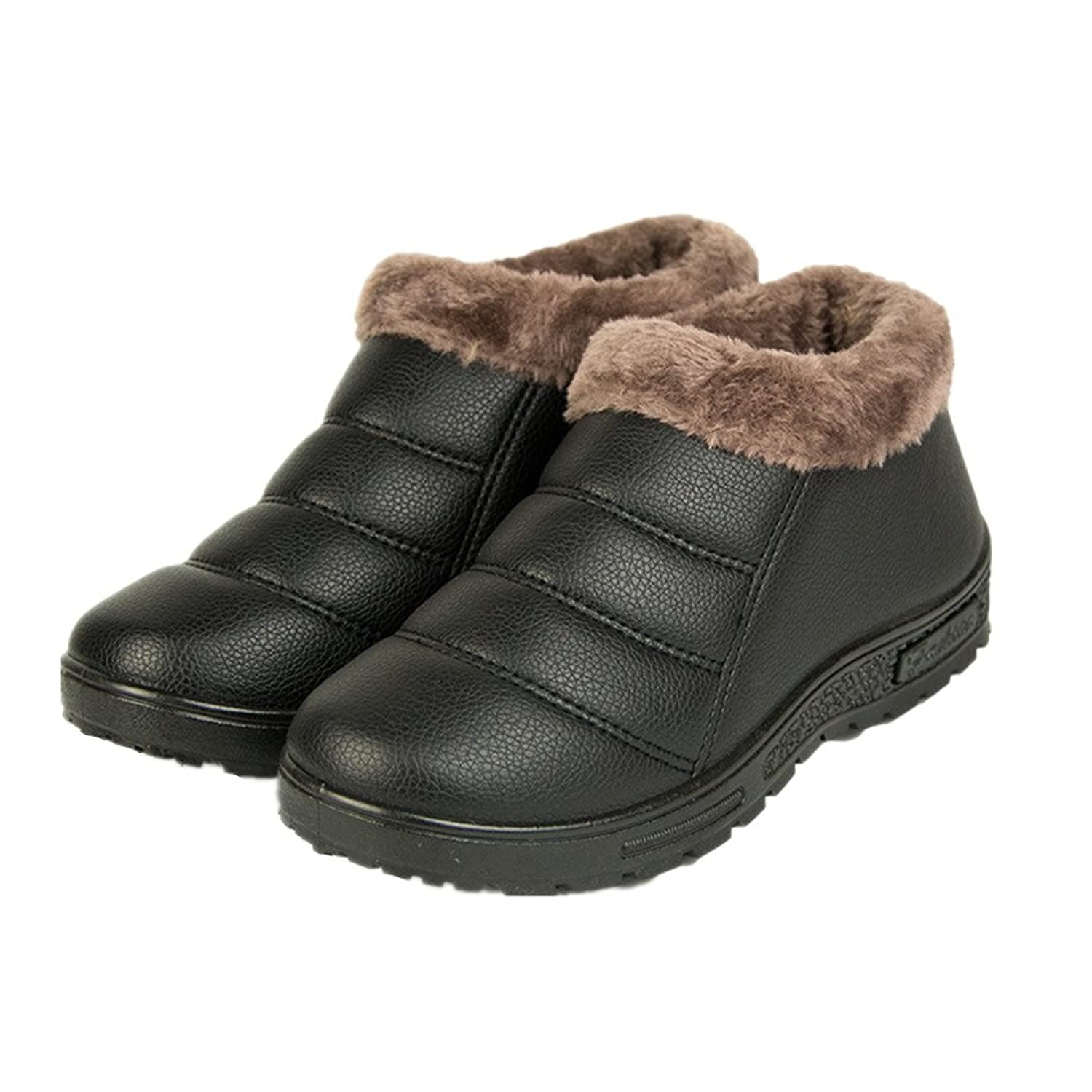 4b6ab900c durable service ANBOVER Mother's Winter Boots Warm Shoes Casual Flat Loafers