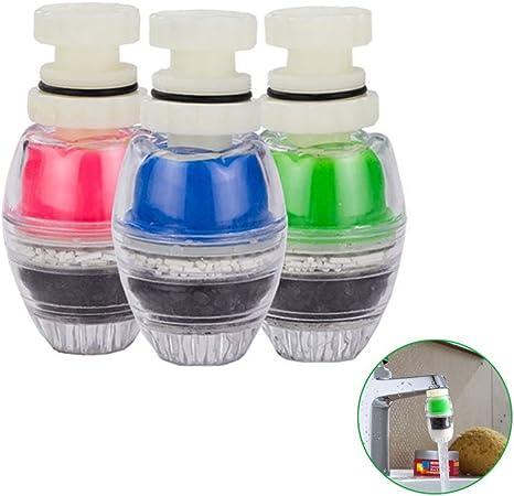 designerbox 3-Pack Coco carbono grifo purificador de agua práctico cocina grifo purificador de agua de carbono cartucho de filtro de agua del grifo purificador limpiador color al azar: Amazon.es: Hogar