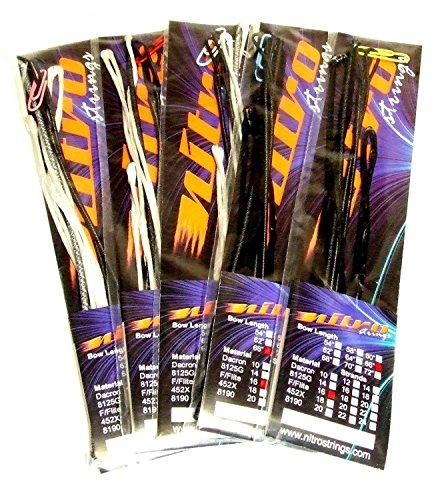Flite Strings Fast - New Nitro Archery Recurve Bow String Bowstring Fast Flite 18 Strand (white, 68
