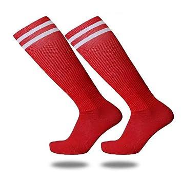 Slip Socks, Toalla Abajo, Futbol Medias, Medias Y Calcetines Finos,Rojo,Código Uniforme: Amazon.es: Deportes y aire libre