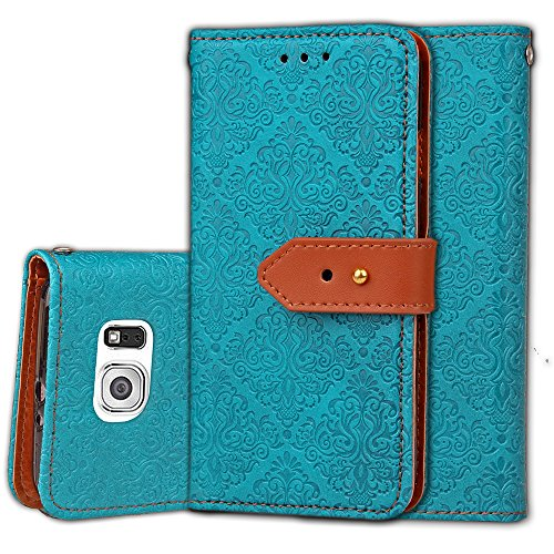 wallet-case-for-samsung-galaxy-s6-with-tempered-glass-screen-protector-leather-flip-cover-card-holde