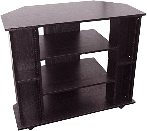 ORE International Corner TV Stand Black