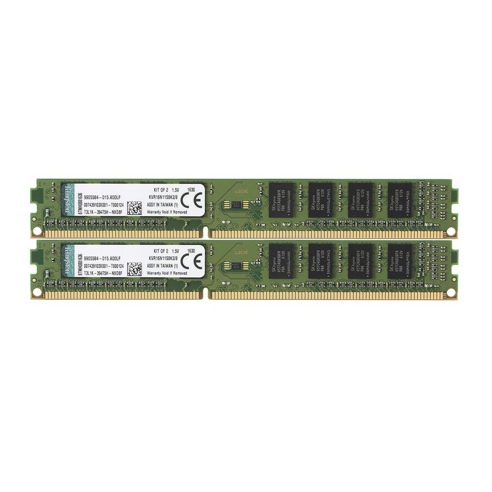 Kingston KVR16N11K2/16 Arbeitsspeicher 16GB (DDR3 Non-ECC CL11 DIMM Kit, 240-pin, 1,5V)