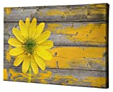 Epic Graffiti Wood Series Giclee Canvas Wall Art, 26'' x 40'', Rustic Daisy