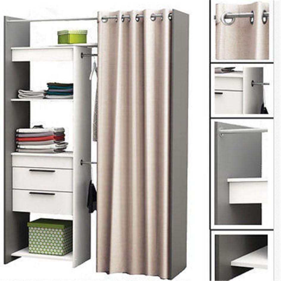 Amazon De Cravog Begehbarer Kleiderschrank Garderobenschrank Mit Vorhang Wascheschrank Stauraum