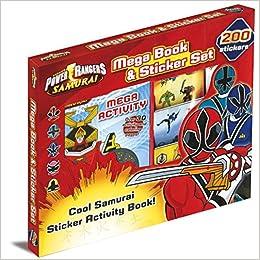 Power Rangers 200 Sticker Book Box