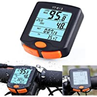 Odómetro del velocímetro de la bicicleta de la función multi, odómetro inalámbrico de la bicicleta del ordenador de la bici de la prenda impermeable de Fenebort con la exhibición grande de la luz de fondo