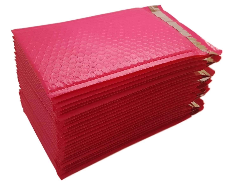 Imbaprice 25-pack # 0(15, 2x 25, 4cm) rosa caldo color self Seal Poly Bubble Mailers busta imbottita (totale di 25pezzi) IC-PB6X10PINK-25PK