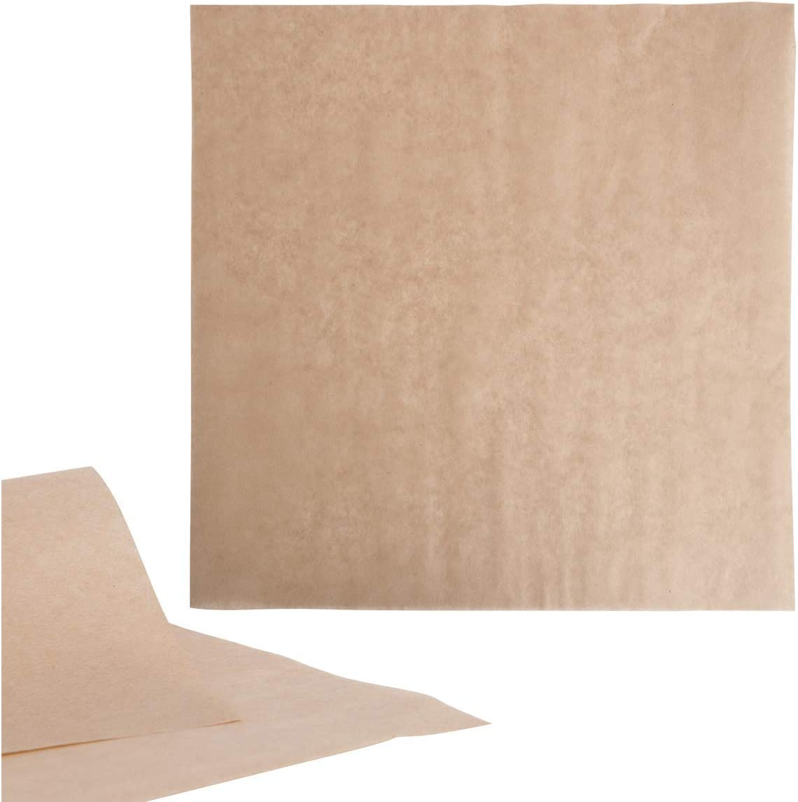 MM Foodservice 12 Inch x 12 Inch Natural Kraft Basket Liner, Grease Resistant Deli Paper, Food Grade Brown Tissue Kraft Paper Sheets, Perfect for Food Baskets, Burgers and French Fries (Pack of 100)