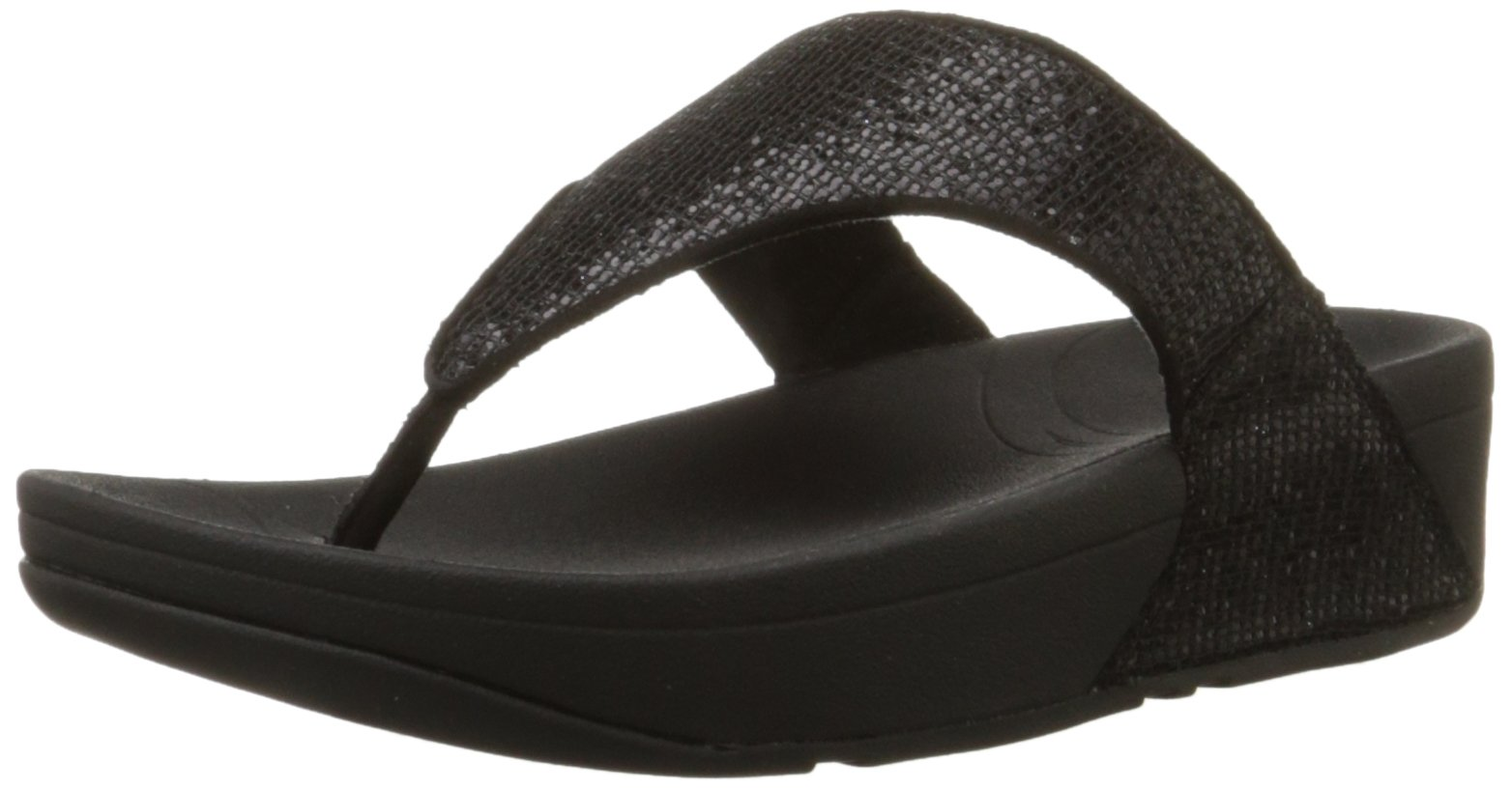 Fitflop Women's Lulu Superglitz Textile Sandal,Black,9 M US by FITFLOP