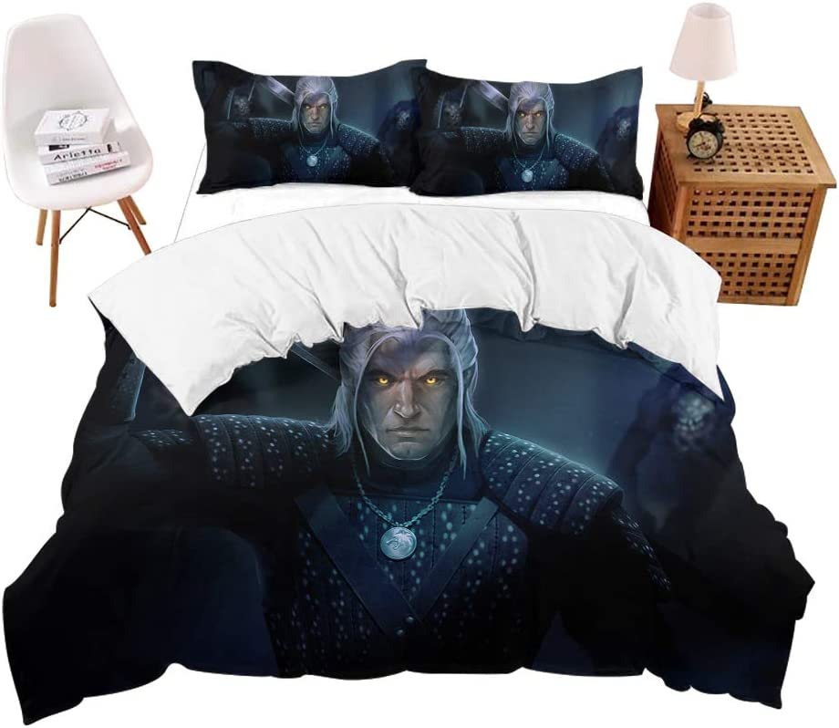 3-Piece Bedding Set Quilt Cover Super Soft Microfiber Popular 3D Digital Print Bedding