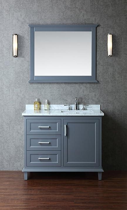 Ariel SCNAN42SWG Nantucket 42 Single-Sink Bathroom Vanity Set with ...