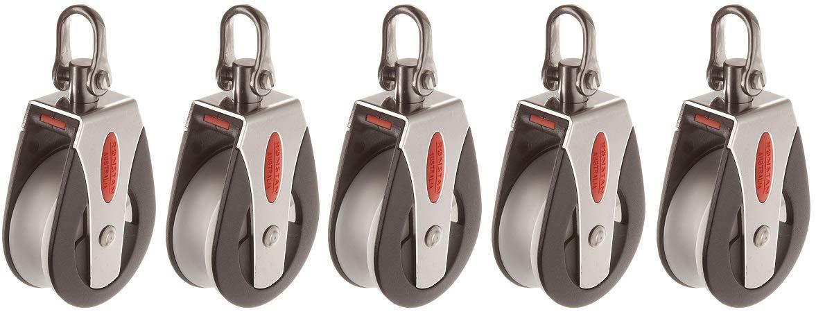 RONSTAN RF51100 Series 50 AP Block Universal Head Single Pulley, 3310 Lbs Load Capacity, 2'' Sheave (5-(Pack))