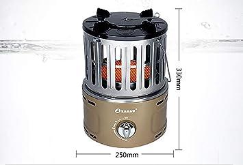 Little Sun Calentador de Gas, Hogar Multifunción Mini Portátil de Gas Licuado Al Aire Libre, Estufa de Asado Silencioso Caliente a Velocidad de Gas Natural: ...
