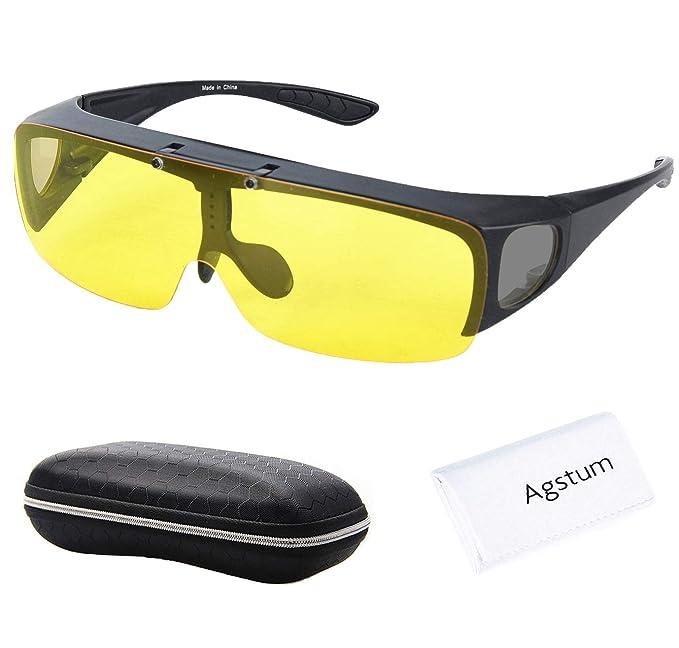 Gafas de sol polarizadas de Agstum, envolventes, para conducción con visión nocturna, cristales