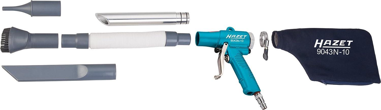 Noir//Bleu//Argent Hazet 9043N-10 Pistolet aspirant et soufflant r/éversible