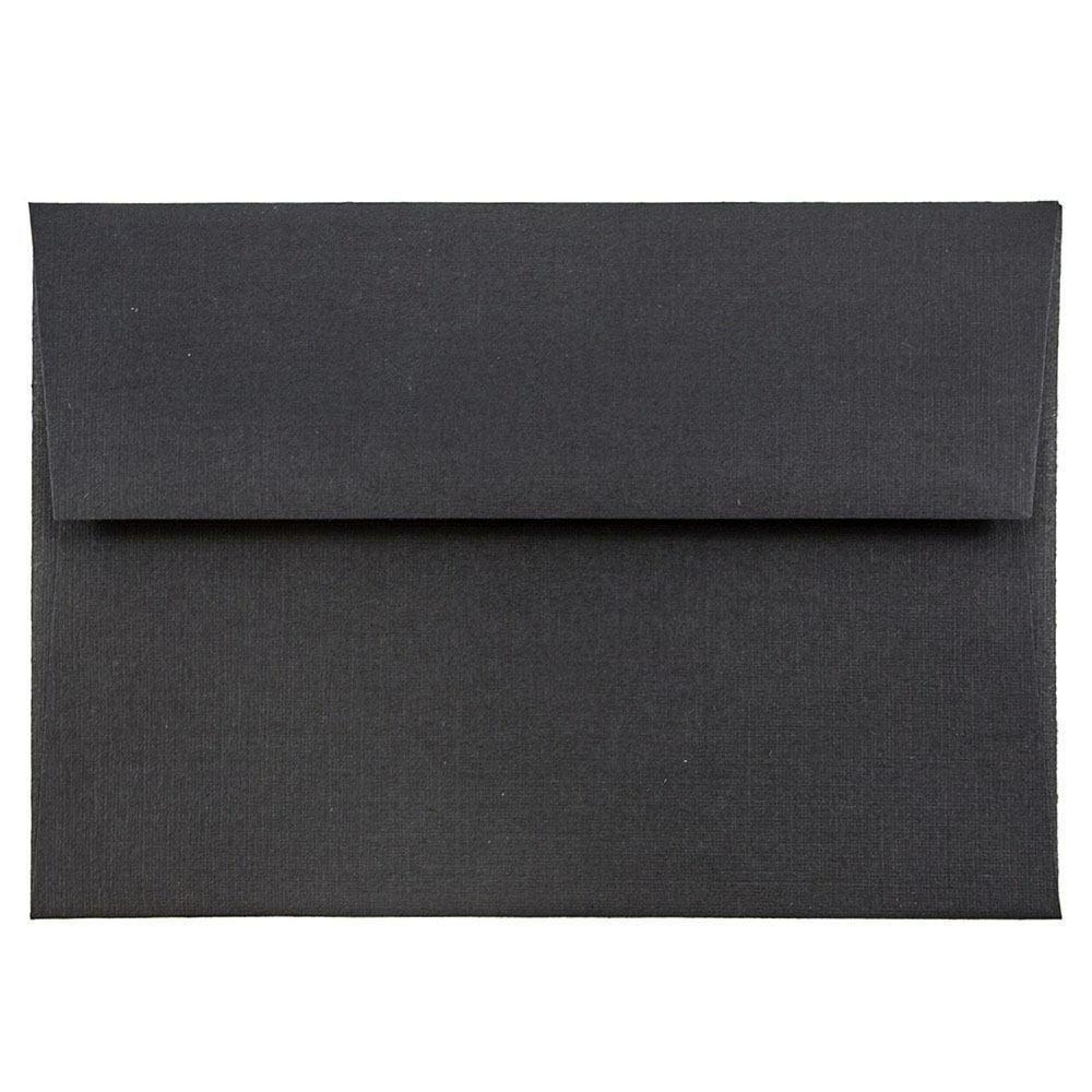 JAM Paper 4Bar A1 Invitation Envelope - 3 5/8'' x 5 1/8'' - Envelope - Black Linen - 1000/carton