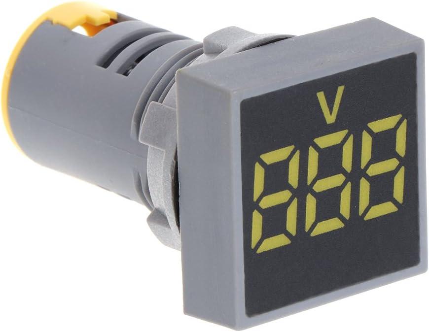 500 V Voltmetro quadrato LED tensione//indicatore di tensione digitale. A0127 22 mm corrente alternata 12