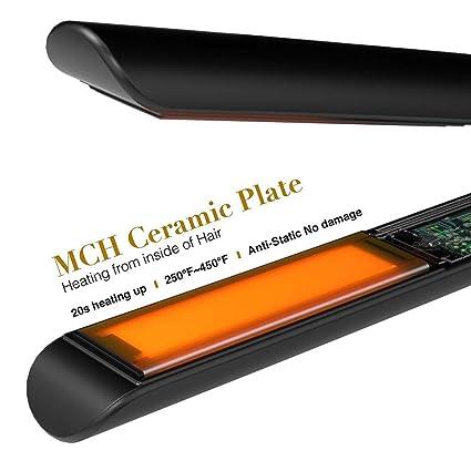Dastrues 2 en 1 cerámica Profesional rizador de Pelo alisador Plancha Plancha Pelo Herramienta de Peinado