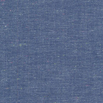 - Robert Kaufman Neon Neppy Chambray Blue 44 Inch Wide Cotton