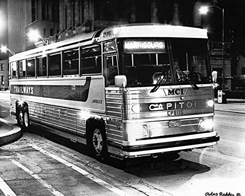 - 1982 MCI MC9 Trailways Bus Photo Harrisburg