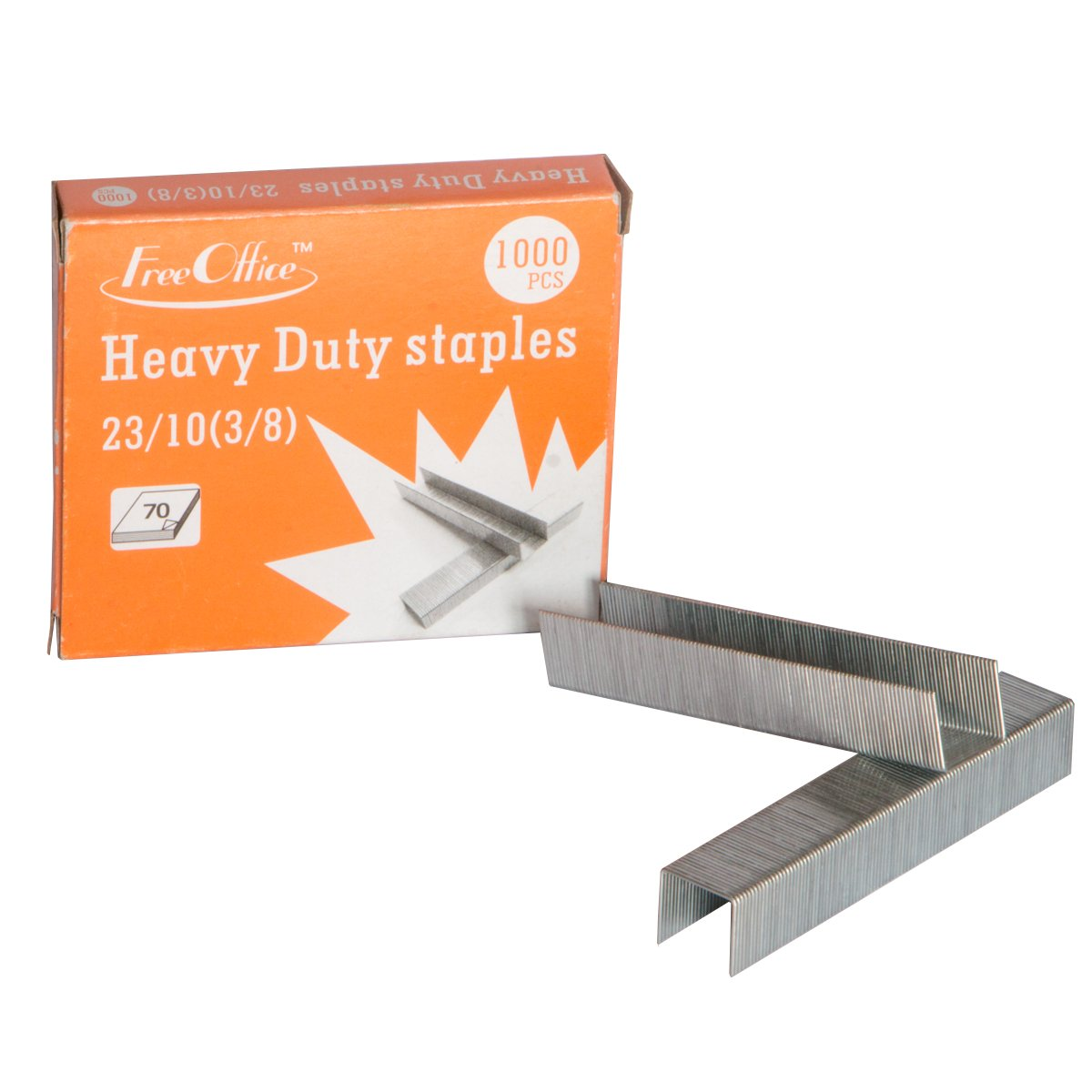 Heavy Duty Standard Staples 23/10 3/8' Length Free Office 1000pcs/box (10) by Free Office (Image #3)