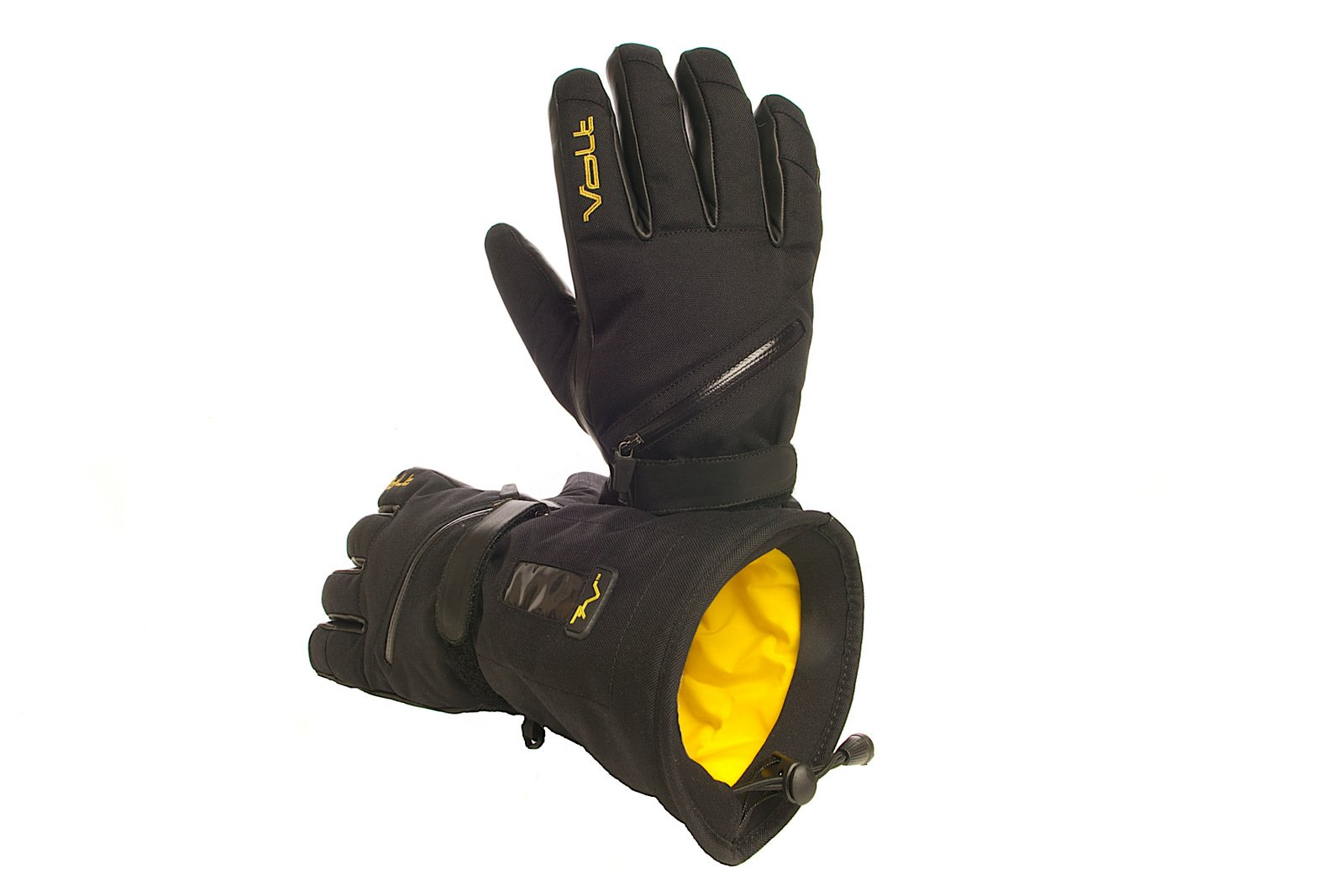 Men's Volt Heated snow gloves, Black, Large by Volt