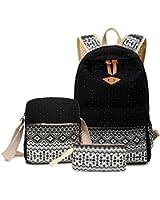 Abshoo Canvas Dot Backpack Cute Lightweight Teen Girls Backpacks School Shoulder Bags