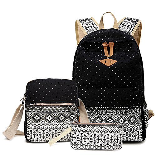 Teenagers girls school backpacks children backpacks Black - 4