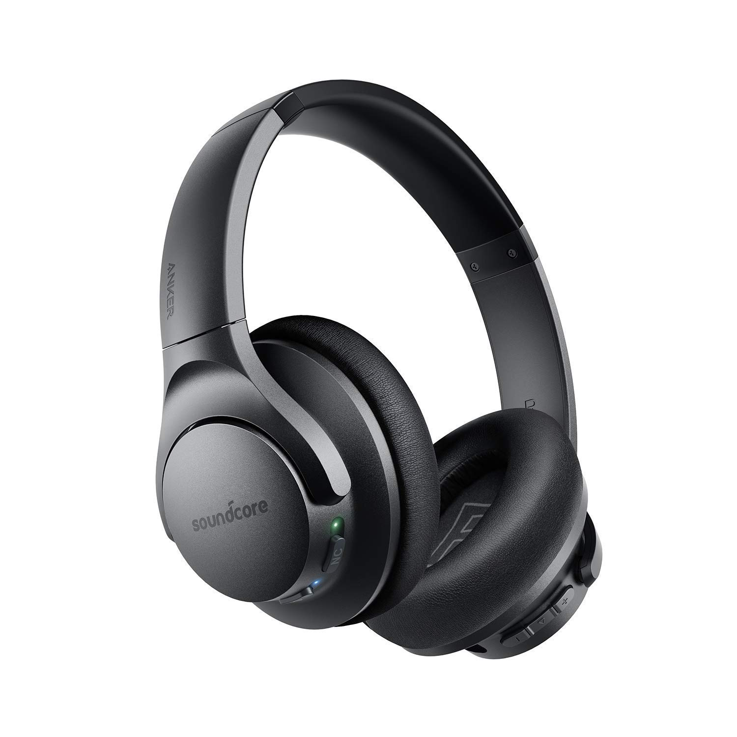 Anker Soundcore Life Q20 Hybrid Active Noise Cancelling Headphones, Wireless Over Ear Bluetooth Headphones with 40H Playtime, Hi-Res Audio, Deep Bass, Memory Foam Ear Cups and Headband (Renewed)