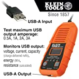 Klein Tools ET910 USB Power Meter and Tester, USB-A Digital Meter for Voltage, Current, Capacity, Energy, Resistance, Max Current