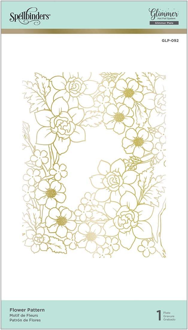 Spellbinders GLP-092 Flower Pattern Glimmer Hot Foil Plate Metal