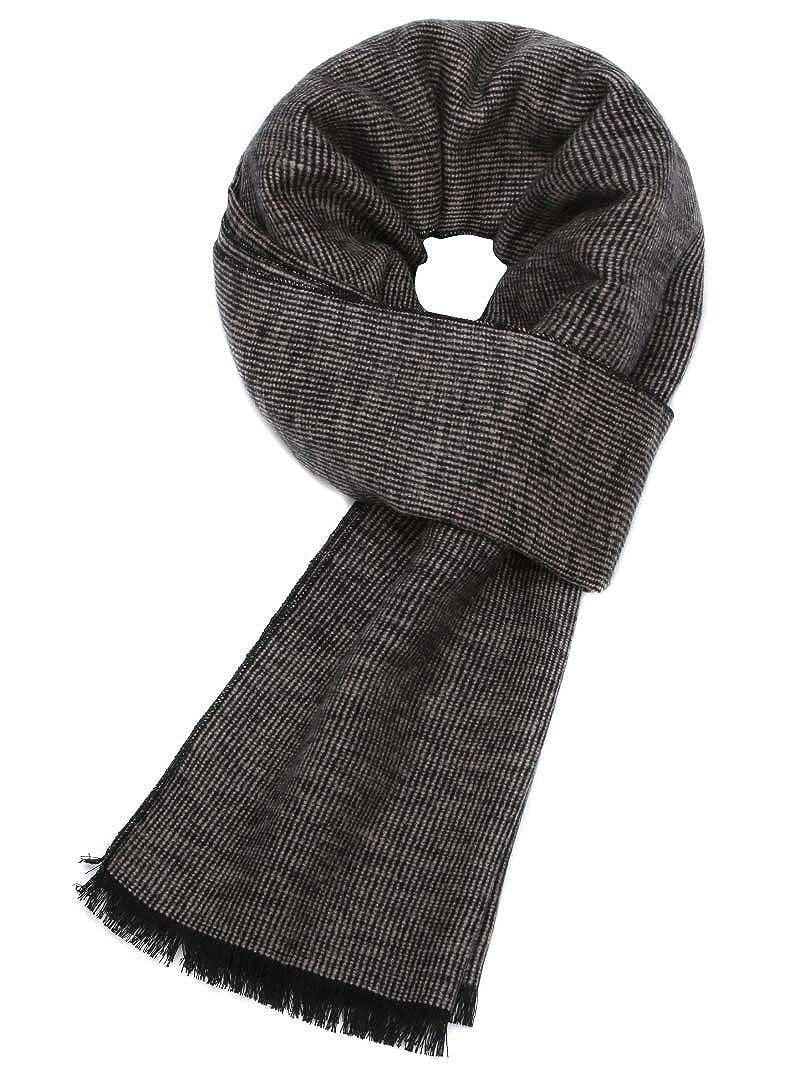 Prettystern Sciarpa di seta calda da uomo 100/% seta spazzolata effetto velour