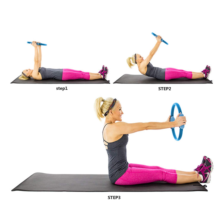 JEEZAO Yoga Aro Pilates,Aro Fitness de Pilates Anillo Yoga ...