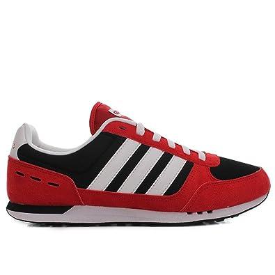 Adidas - Neo City - Couleur: Noir-Rouge - Pointure: 44.6