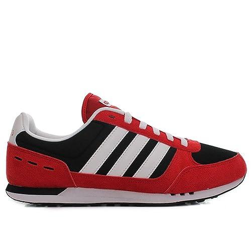 eb9c06d3 Adidas Neo City Racer Zapatillas Deportivas rojo /negro / blanco - rojo  /negro /blanco?, hombre, 45 1/3: Amazon.es: Zapatos y complementos