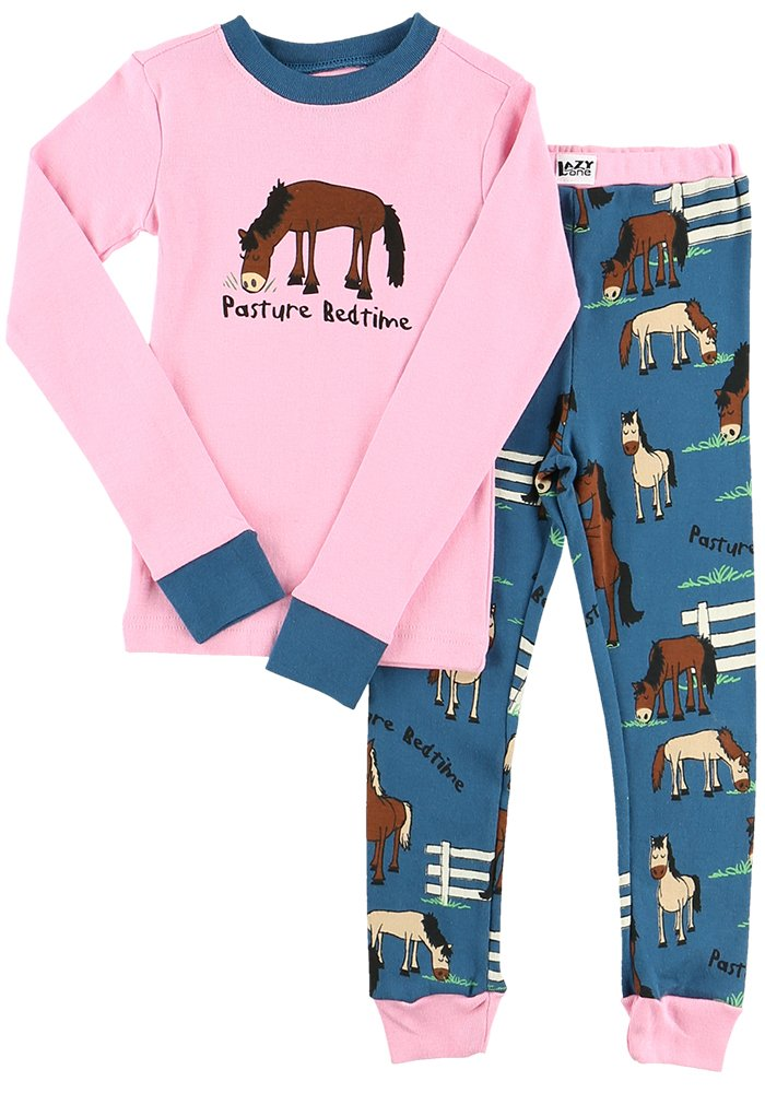 Lazy One Infant Girls Creeper One piece My Horse Rocks Rocking Horse Pink Brown