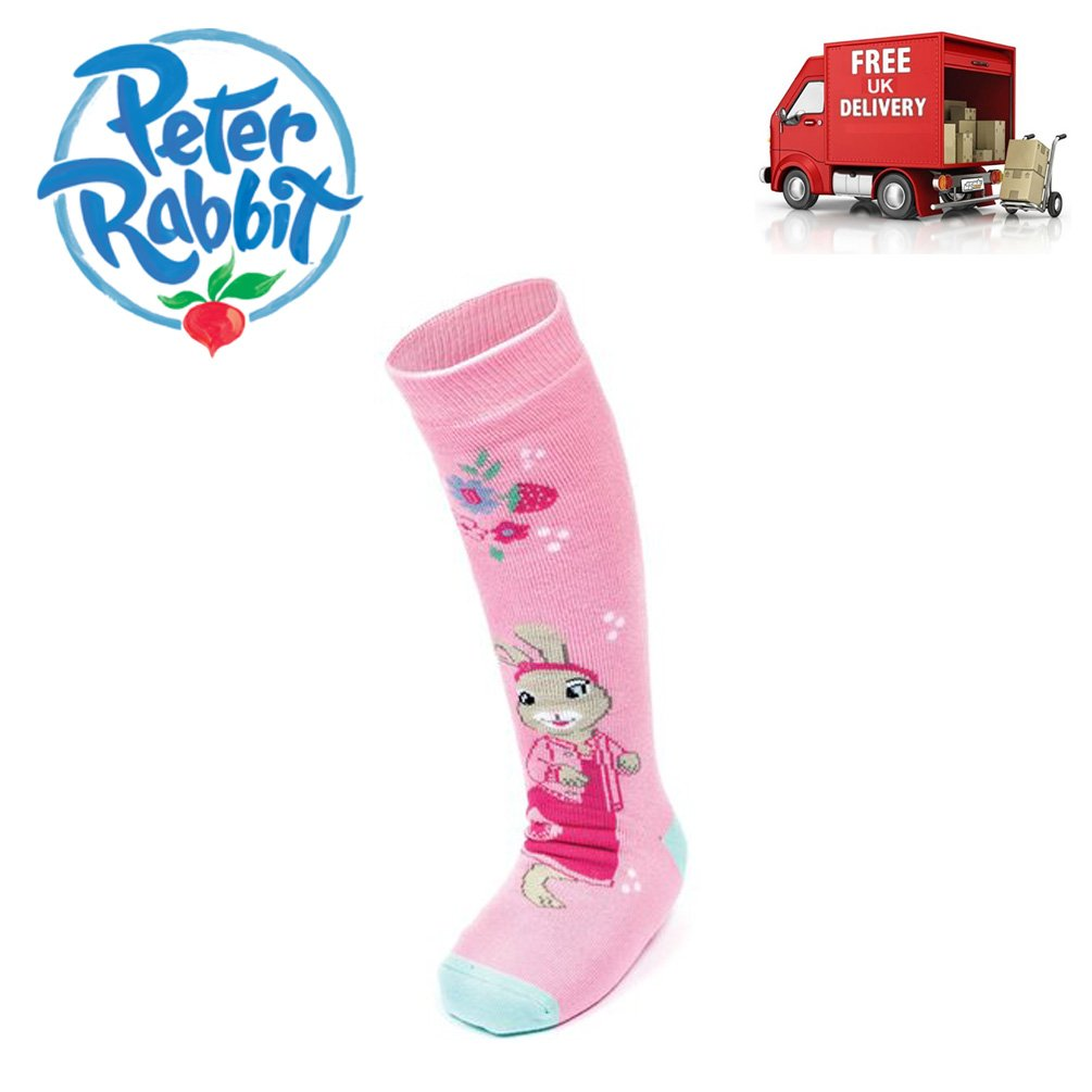 Peter Rabbit /& Friends Lily Bobtail Pair of Welly Boot Socks Pink Adventurer BBC